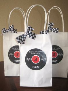Race Car Birthday Party Favors, maybe an idea for Lochs birthday party he is starting to gravitate towards cars.