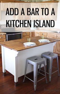 adding a bar to a kitchen island