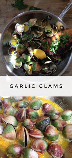Garlic Clams Recipe | CiaoFlorentina.com @CiaoFlorentina