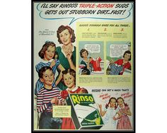 Rinso Detergent Singing Girls Laundry Room Wall by thevintageshop
