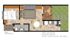 Resultado de imagem para plantas para casas pequenas