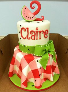 Watermelon cake - this is one of the cutest cakes I've ever seen.