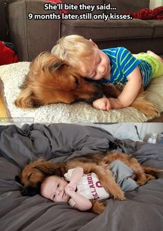 cute-dog-baby-hug-sleeping-1 | Mommy Has A Potty MouthMommy Has A Potty Mouth