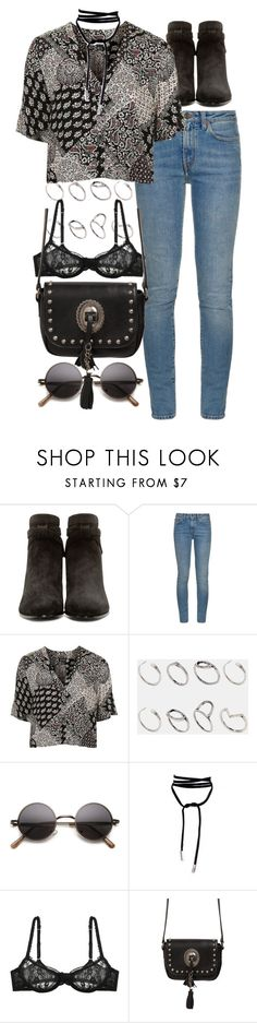 """""""Untitled #9351"""" by nikka-phillips ❤ liked on Polyvore featuring Yves Saint Laurent, Topshop, ASOS and L'Agent By Agent Provocateur"""