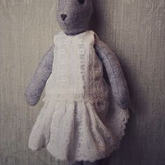 Luna's newest outfit- button back lace top and full skirt. Now available as a kit