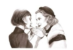 another excellent example of the fan art generated by 2015 film #CAROL with Rooney Mara and Cate Blanchett as Therese and Carol #Carolmovie