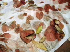 M.Y. garden   Youliana Manoleva - natural dyes - seta pongé, stampa botanica. pongè silk, pongè silk, botanical print.