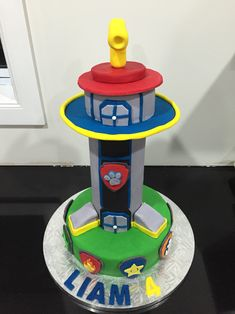 Image result for paw patrol lookout tower cake