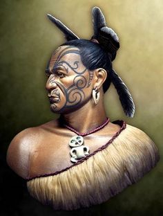 Maori Warrior by Massimo Pasquali Moko, Feather and Adornment Ref (Tongariro Story) Maori Tattoos, Tribal Tattoos, Maori Face Tattoo, Ta Moko Tattoo, Maori Tattoo Designs, Marquesan Tattoos, Arm Tattoo, Borneo Tattoos, Thai Tattoo