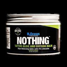 Piercing Supplies and Kits: H2ocean Nothing Foam Tattoo Glide And Soothing Balm Lidocaine Organic 200G 7 Oz BUY IT NOW ONLY: $50.0