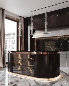 Home Design Decor, Luxury Home Decor, Luxury Interior, House Design, Interior Design, Home Bar Counter, Bar Counter Design, Home Decor Kitchen, Kitchen Interior