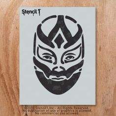 Stencil1 Wrestler Mask stencil S1_01_25 on Etsy, $12.33 CAD
