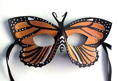 Zesty Monarch Butterfly  Handmade leather mask by OakMyth on Etsy, $40.00