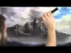 """""""Jagged Peaks""""  an oil painting by Kevin Hill"""