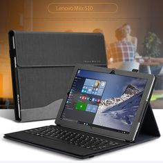 Flat Cover Case For Lenovo Miix510 12.2 Leather Stand Cover Case For Lenovo Miix5 Miix510 12.2 ( Compatible original keyboard )