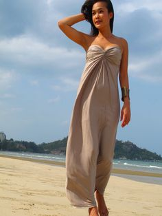 Beige Nude Sparkle Strapless Sun Beach Evening Long Dress S M L XL 2XL Plus | eBay