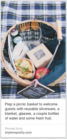 picnic welcome basket