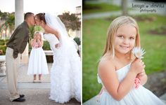 Sweet flowergirl.  Fun kissing pose for bride and groom.  » Blog