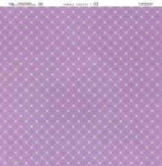 Papier 30x30 - Fioletowe Fiołki 02 - Galeria Papieru Na-Strychu