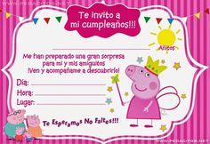 angel y maria Peppa Pig Invitations, Birthday Invitations, Pig Birthday Cakes, 3rd Birthday, Invitacion Peppa Pig, Aniversario Peppa Pig, Pig Party, Birthdays, Baby Shower