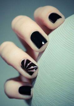 Black Nail Art Designs and Ideas (4)