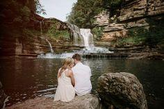 Waterfall Engagement. Documentary Wedding Photographers. Raw, Honest, Unfussy Engagement Photos. Photos by Brad + Jen www.qavenuephoto.com