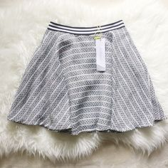 BCBG Skater Skirt BCBGeneration Skater Circle skirt.  So cute! The plaid has a pink to light yellow ombré included with the white and the black. BCBGeneration Skirts Circle & Skater