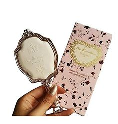Girls Embossed Vintage Make Up Hand Table Mirror Hand Held Makeup Mirror  Princess Style Ideal