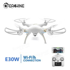 Eachine E30W WIFI FPV With 720p Camera 2.4G 4CH 6-Axis Headless Mode RC Quadcopter RTF Sale - Banggood.com