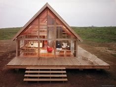 Excellent Gardening Ideas On Your Utilized Espresso Grounds Newly Constructed Prefabricated House On Block Island With Large Wrap Around Deck Photographic Print By John Zimmerman At Small Log Cabin, Tiny House Cabin, Log Cabin Homes, Tiny House Living, Tiny House Design, Small Cabin Designs, Barn Homes, Tiny House Kits, Diy Cabin