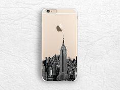 New York City View iPhone 6/6s transparent case, NYC photo phone case for LG G3 G4, Nexus 5X, Sony Z3 Z4 Z5, Samsung S6, HTC One M8 M9 -A16