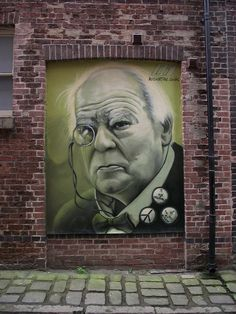 Rocket 01 - Sir Patrick Moore mural painted on the side of Butcher Works, Arundel Street (Froggatt Lane), Sheffield.