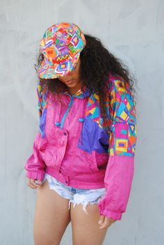 Dannie Cherie, 26, Los Angeles, California Wearing: 90s Coachella 5 panel Snapback, Thrifted 90s Windbreaker, Thrifted Levi's Shredded Shorts Submitted/Photo By: HellaThrifty