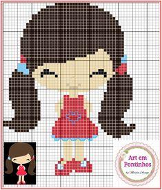 Cross Stitch For Kids, Cute Cross Stitch, Cross Stitch Alphabet, Cross Stitch Embroidery, Embroidery Patterns, Cross Stitch Patterns, Pixel Crochet Blanket, Stitch Doll, Hama Beads Patterns