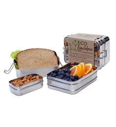 ECOlunchbox Stainless Steel Food Container, Three-in-One Food Containers in {productContextTitle} from {brandTitle} on shop.CatalogSpree.com, your personal digital mall.
