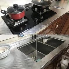 Aluminum Foil Kitchen Stickers Self Adhesive Oil Proof Stove Cabinet Stickers Aluminum Foil Kitchen Stickers Self Adhesive Oil Proof Stove Cabinet – rockcoo Kitchen Stickers, Sound Absorption, Appartement Design, Fire Prevention, Waterproof Stickers, Diy Home Crafts, Glass Door, Stove, Adhesive