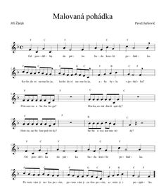 Malovaná pohádka | Výtvarná výchova Kids Songs, Ukulele, Piano, Sheet Music, Classroom, Musica, Carnavals, Class Room, Songs For Children