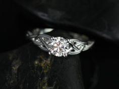 White Gold Round Diamond Celtic Knot Engagement Ring