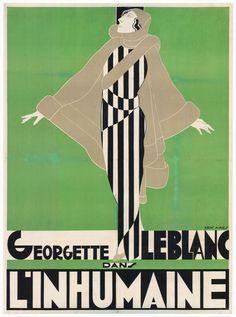 Affiche de «L'Inhumaine» film de Marcel L'herbier, 1924