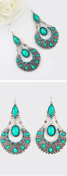 Turquoise Boho Earrings ♥