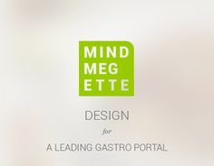 Redesign project for one of the leading gastro portal in Hungary. Working On Myself, Portfolio Design, Hungary, New Work, Portal, Mindfulness, Behance, Gallery, Check