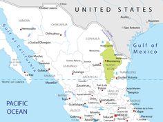Nuevo Leon Mexico | Map of Nuevo Leon in Mexico