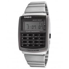Casio Watch, Calculator, Chronograph, Vintage, Luminizer, Argentina, Stainless Steel, Clocks, Vintage Comics