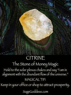 is the stone of Money Magic, keep a piece by your cash drawer or in your home office. Use gems for crystal healing.Citrine is the stone of Money Magic, keep a piece by your cash drawer or in your home office. Use gems for crystal healing. Crystal Healing Stones, Crystal Magic, Crystal Altar, Crystal Guide, Healing Crystals For You, Rocks And Gems, Rocks And Minerals, Crystals And Gemstones, Stones And Crystals