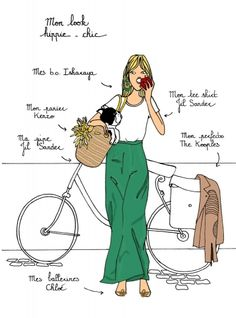 A fun image sharing community. Explore amazing art and photography and share your own visual inspiration! French Teacher, Teaching French, Bike Illustration, French Outfit, French Grammar, French Classroom, French History, French Words, Learn French
