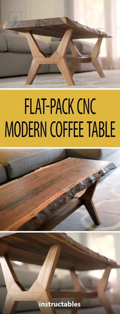 Flat-Pack CNC Modern coffee table # Woodworking # Furniture – Wood Works – Just another WordPress site Diy Coffee Table, Decorating Coffee Tables, Coffee Table Design, Modern Coffee Tables, Modern Table, Woodworking Furniture, Fine Woodworking, Furniture Plans, Table Furniture