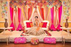 Best site to plan a modern Indian wedding, WedMeGood covers real weddings… Mehndi Stage, Mehendi Night, Henna Night, Umbrella Decorations, Wedding Stage Decorations, Wedding Themes, Wedding Ideas, Wedding Story, Wedding Centerpieces