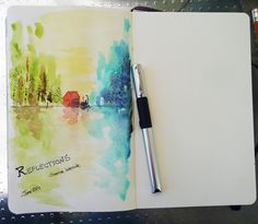 Art Journals and a Easy Painting Exercise: