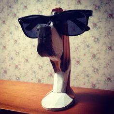 Vintage Kitsch Retro Carved Wooden Hound Dog by TheUglyMug on Etsy, $10.00