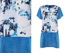 SUMMER SALE 30% Off  Blue T Shirt Summer Dress / by TangensDesigns